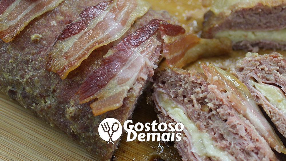 Rocambole de Carne e Bacon